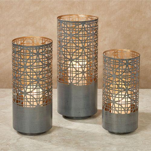Calinesse Candleholder Lanterns Gray Set of Three