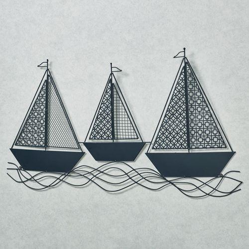 Setting Sail Trio Nautical Sailboat Metal Wall Art