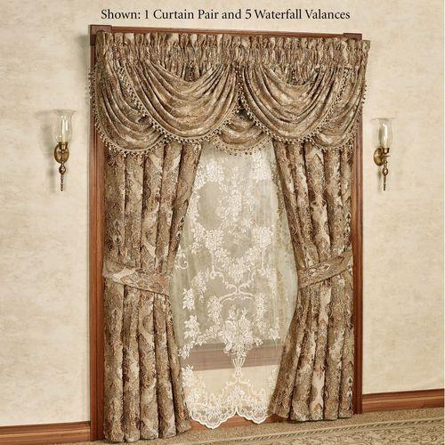 Bradshaw Wide Tailored Curtain Pair Natural 100 x 84