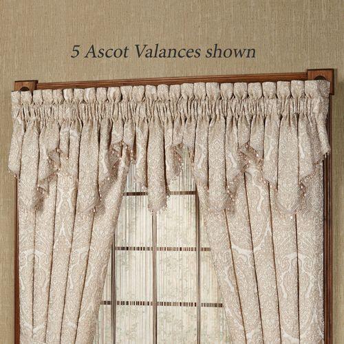 Renaissance Scroll Ascot Valance Sand 40 x 21