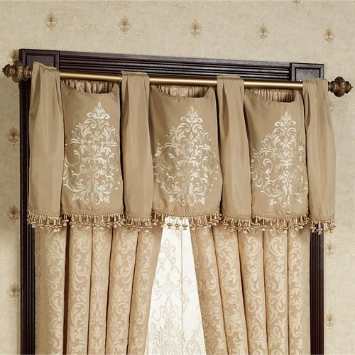 Newcastle Tailored Curtain Pair Tan 84 x 84