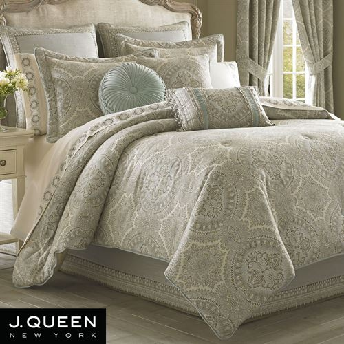 Colette Comforter Set Powder Blue