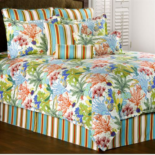 Island Paradise Comforter Set Light Cream