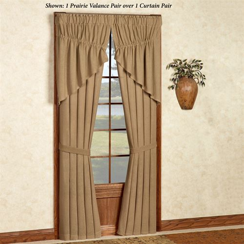 Burlap Tailored Curtain Pair Natural 80 x 84