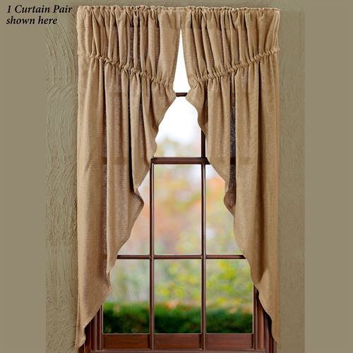 Burlap Prairie Curtain Pair Natural 72 X 63