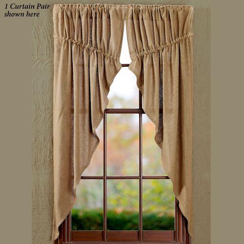Burlap Prairie Curtain Pair Natural 72 x 63