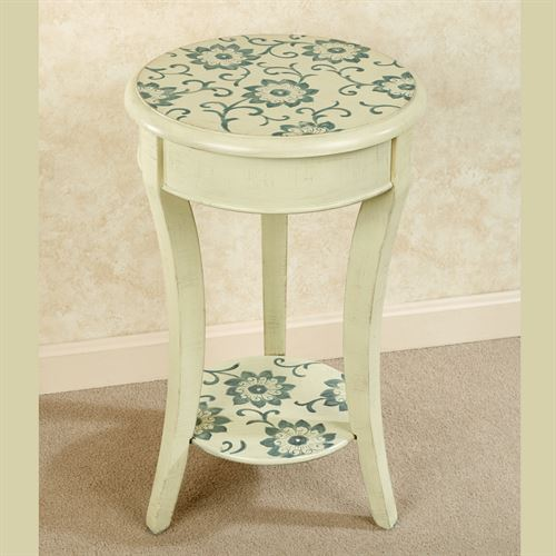Camber Round Accent Table Ecru