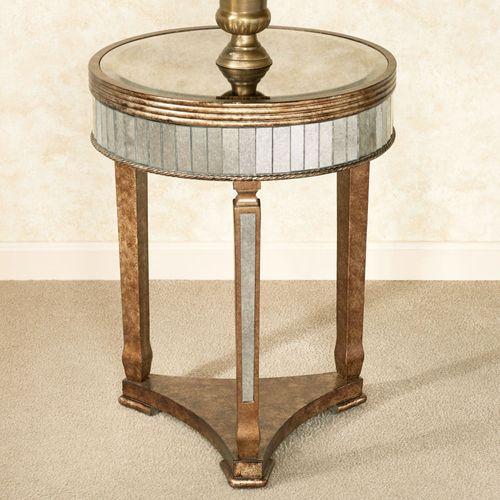 Bella Mina Mirrored Accent Table Venetian Gold
