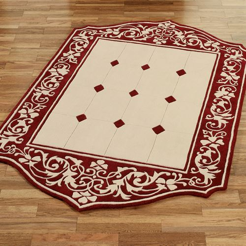 Lyon Rectangle Area Rug Claret