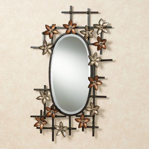 Serene Blooms Wall Mirror Dark Bronze