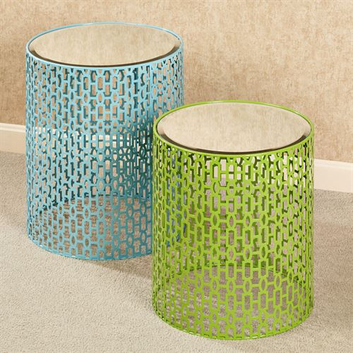 Summer Fresh Accent Tables Multi Cool Set of Two