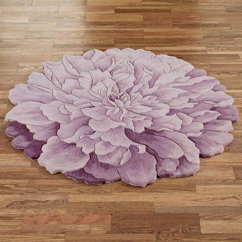 Delia Bloom Round Rug Lavender