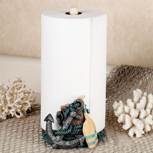 Nautical Paper Towel Holder Multi Metallic