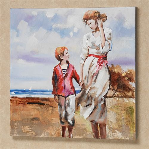 Summer Beach Memories Canvas Art Multi Pastel
