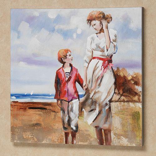 Summer Beach Memories Canvas Art Multi Pastel