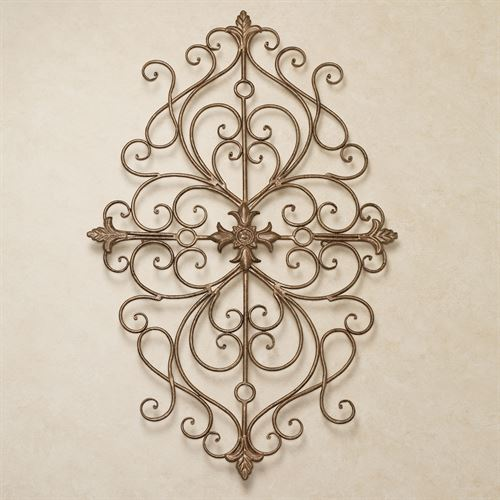 Ansovino Scrolling Wall Grille Antique Gold