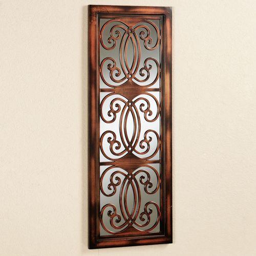 Asella Mirrored Wall Panel Brown