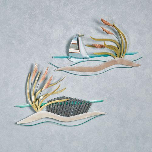 Sailboat and Dunes Wall Art Multi Earth