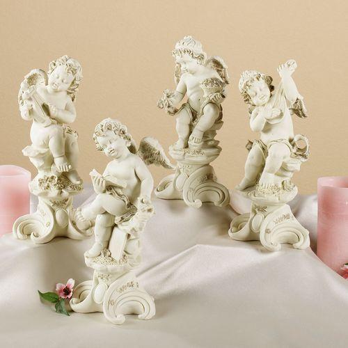 Playful Cherubs Sculpture Set  Set of Four