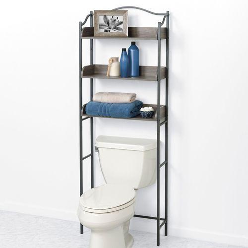 Driftwood Bathroom Space Saver Pewter