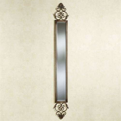 Taneisha Scroll Mirror Panel Beige/Brown