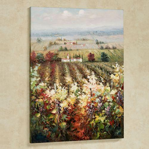 Vineyard View Canvas Wall Art Multi Warm