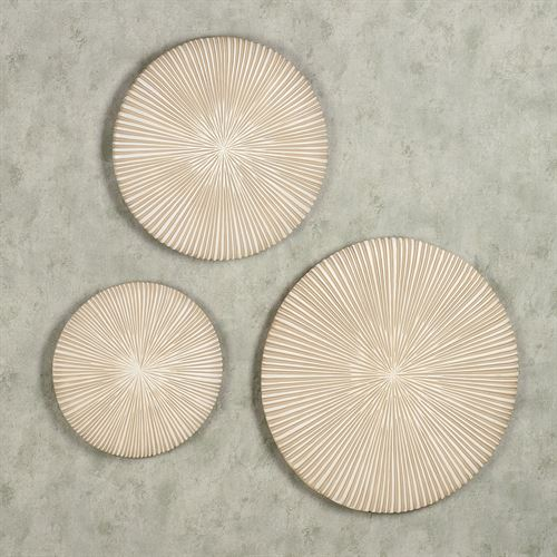 Sphere Wall Plaque Set Cream Set of Three