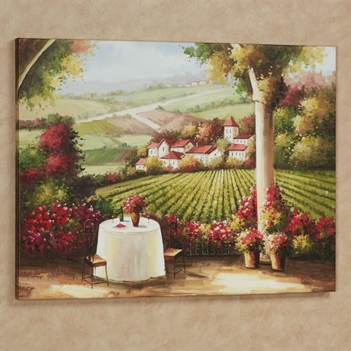 Vineyard in the Valley Canvas Art Multi Earth