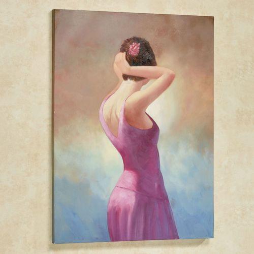 Evening Grace Canvas Wall Art Multi Pastel