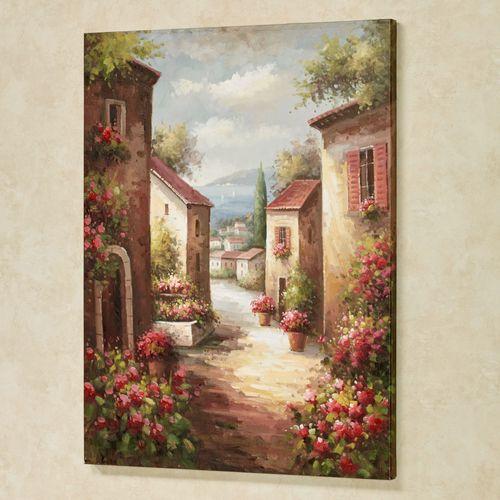 Tuscan Path Canvas Wall Art Multi Warm
