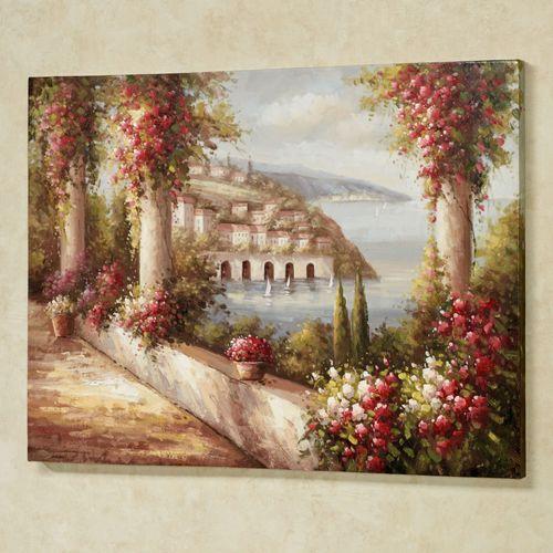 Sea View Canvas Wall Art Multi Warm