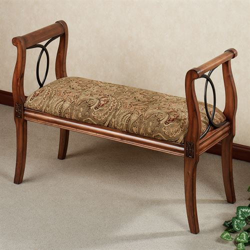 Andover Upholstered Bench Regal Walnut