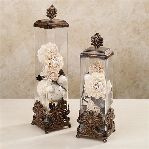Herston Covered Jar Set Bronze Set of Two