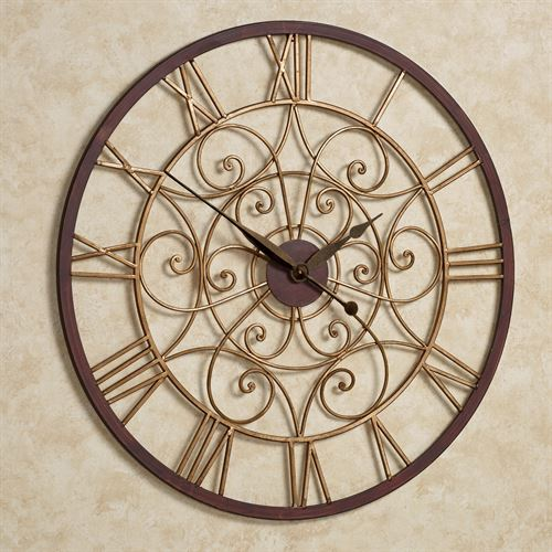 Ralston Wall Clock Antique Gold