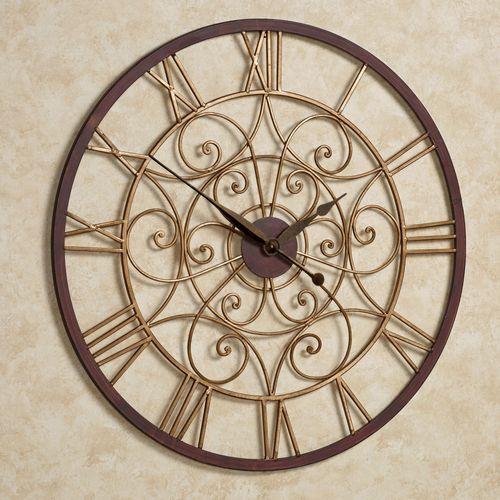 Ralston Wall Clock Antique Gold