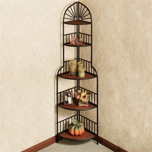 Sunset Corner Etagere Black