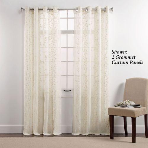Laker Sheer Grommet Curtain Panel Ivory 55 x 84