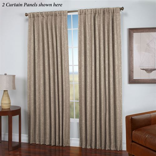 Griffin Tailored Curtain Panel Latte