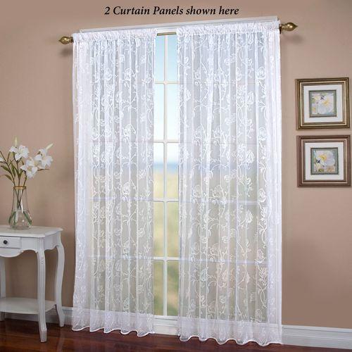 Seslee Sheer Curtain Panel White
