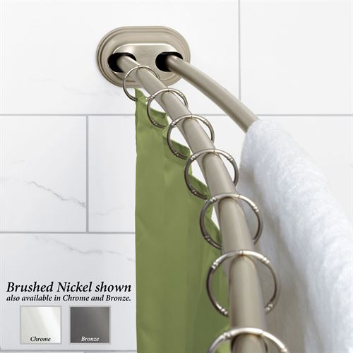 NeverRust Double Tension Curved Shower Rod