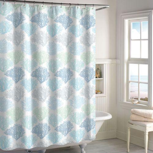 Sea Reef Semi Sheer Coastal Shower Curtain