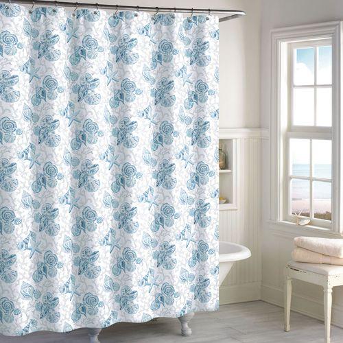 Key Largo Shower Curtain Blue 72 x 72