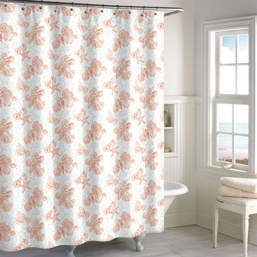Key Largo Shower Curtain Coral 72 x 72