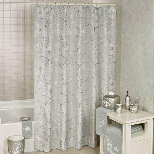 Mika Shower Curtain Slate Green 72 x 72