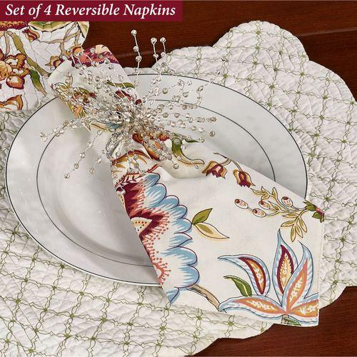 Bethany Reversible Napkins Multi Warm Set of Four