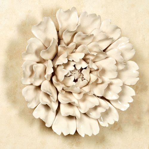 Ceramic Flower Blossom Wall Art