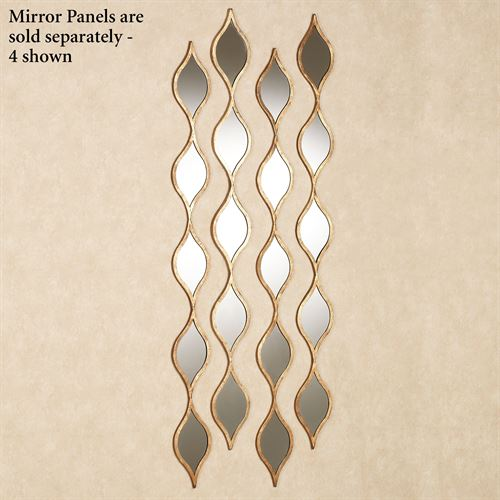 Ophelia Teardrops Accent Mirror Gold