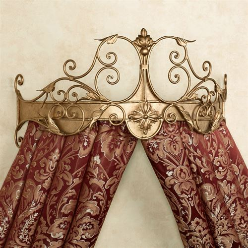 Tarleton Wall Teester Bed Crown Antique Gold