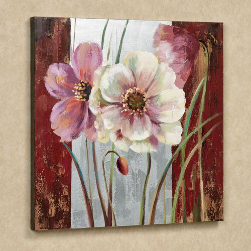 Blooming Beauties Canvas Art Multi Warm