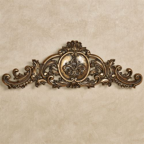 Kingsley Fleur Wall Topper Aged Gold